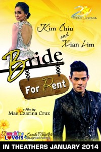 for RENT Movie Starring Kim Chiu and Xian Lim Movie Poster Unveiled