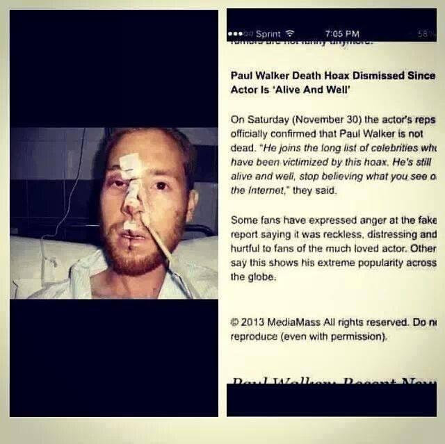 Paul Walker Dead Face