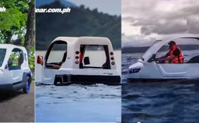 "Inventive Filipino Makes this Tricycle Runs in Water Called ""Salamander Amphibious Tricycle"""