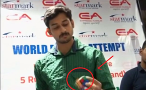 Incredible Skills: Indian Man Grabs Guinness World Record For Speed Cubing Just Only Using One Hand