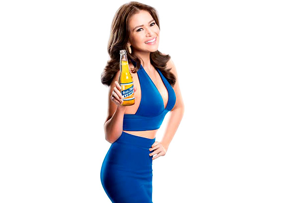 bela padilla set foot as new endorser of san miguel light