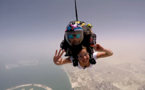 Watch! Anne Curtis goes Sky Diving in Dubai