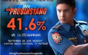 "Coco Martin on FPJ's ""Ang Probinsyano"" Dominates National TV Ratings"