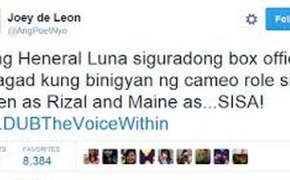 """Netizens Criticize Joey De Leon Because Of His """"HENERAL LUNA"""" Tweets"""