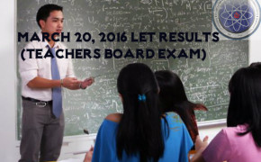 Congratulations! LET Results March 2016 Elementary Level 'Alphabetical Order'