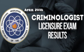 Congratulations! April 2016 Criminologist Board Exam Results 'List of Passers'