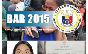 November 2015 Bar Exam TopNotchers (1st Place Miranda, Rachel Angeli B.)