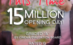 "JaDine Latest Movie ""This Time"" Earns 15 Million on Opening Day (Video)"