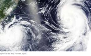 Twin Typhoon Hits Japan leaving 3 Person Dead
