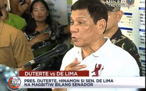 """President Rodrigo Duterte To Senator Leila De Lima """"RESIGN"""""""