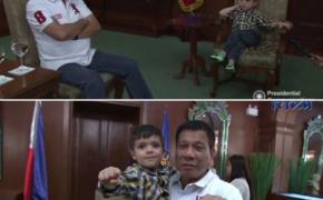 President Rodrigo Roa Duterte meets Ethan Richmond Llanes at Malacañang Palace on Tuesday, August 30, 2016