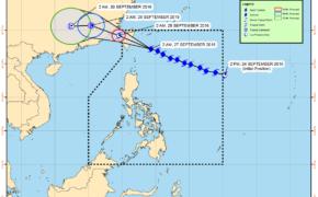 Typhoon Helen (Megi) Latest Updates on Tuesday, September 27, 2016