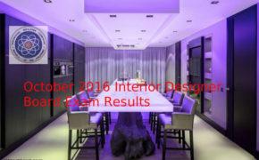PASSERS of October 2016 Interior Designers Board Exam Results