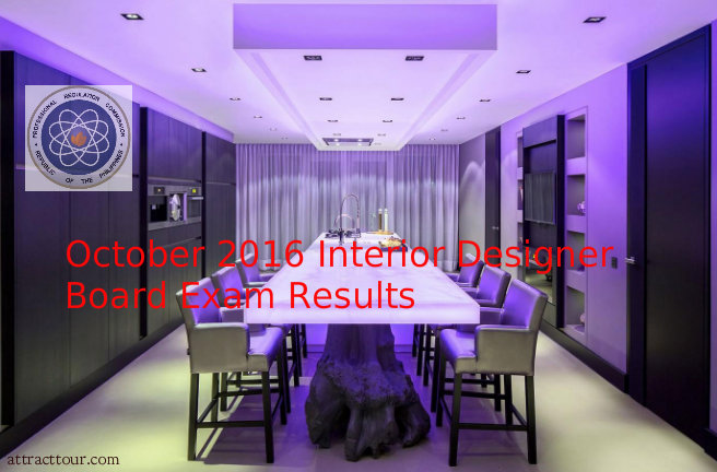 PASSERS Of October 2016 Interior Designers Board Exam