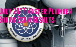Congratulations! July 2017 Master Plumber Board Exam Results List of Passers