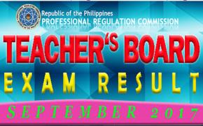 September 2017 LET Results Teachers Board Exam ELEMENTARY LEVEL (Surname U to Z)