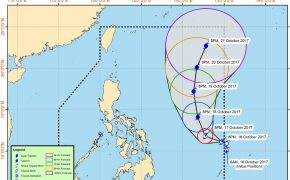 Tropical Storm 'Paolo' enters PAR (Philippine Area of Responsibility) on Monday, October 16, 2017