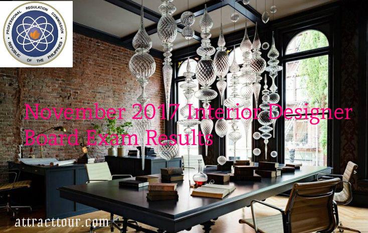 November 2017 Interior Designer Board Exam Results