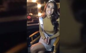 Watch: Miss Universe Philippines Rachel Peters Interview with TPF Cosmetics in Las Vegas
