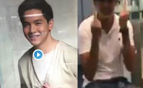 Watch: Juancho Trivino Make a Dirty Finger to the Poster of Alden Richards