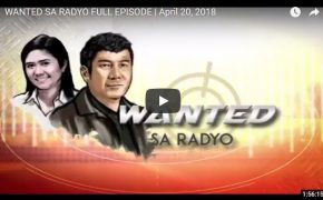 Watch! Wanted Sa Radyo With Raffy Tulfo and Niña Taduran on April 20, 2018 Full Episode #RankingIssues
