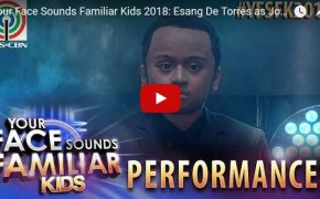 "Your Face Sounds Familiar Kids 2018- Esang De Torres As John Legend Singing ""All of Me"""