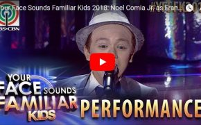 Your Face Sounds Familiar Kids 2018 Noel Comia Jr. Imitates Frank Sinatra