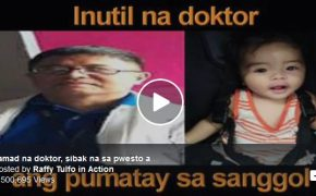 Baby Died Because of A Doctor's Laziness @ Raffy Tulfo in Action