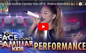 "Your Face Sounds Familiar Kids 2018 Sheena Belarmino Imitates Ariana Grande Performs ""Problem"""