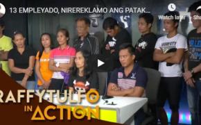Raffy Tulfo in Action on October 22, 2018, Episode # 13 Empleyado, Inirekalamo Ang Kanilang Boss Na Mataas Magsahod Sa Boys, Kaysa Sa Girls!