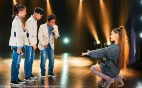 FULL VIDEO: Ariana Grande Surprises TNT Boys Viral Worldwide