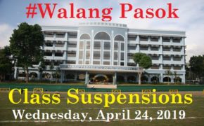#WALANG PASOK: Class Suspensions on Wednesday April 24, 2019