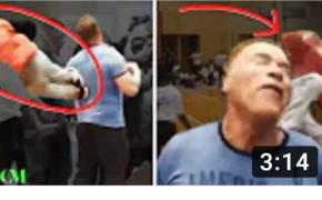 FULL VIDEO: Arnold Schwarzenegger Get Drop Kicked in the BACK