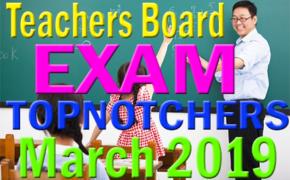 Teachers Board Exam March 2019: Topnotchers (Top 10) Passers Secondary Level