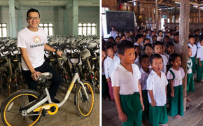 Mike Than Tun Gave 10,000 Students Bicycles for them to Use it in Going to School