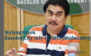 "Bacolod Mayor Evelio ""Bing"" Leonardia Announces Class Suspension on July 17, 2019 (Wednesday)"