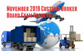 November 2019 Customs Broker Board Exam Results