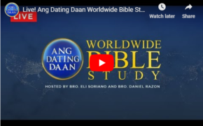 LIVE STREAMING: Ang Dating Daan World Wide Bible Study Wednesday, November 13, 2019