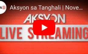 "LIVE NOW: ""Aksyon Sa Tanghali"" News5 November 18, 2019 (Monday)"