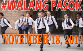 #WalangPasok: Class Suspensions, Monday, November 18, 2019