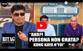 "VIRAL VIDEO: Ben Tulfo Clarifies Issue of ""Persona Non-Grata"" in Bacolod City"