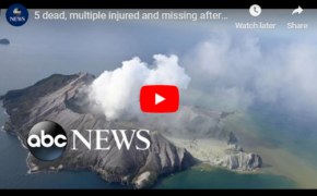Actual VIDEO of New Zealand Volcano Explosion Killed Tourists Visitors