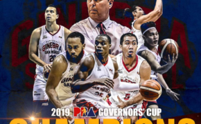 CONGRATULATIONS! Barangay Ginebra is the 2019 PBA Governors' Cup Finals Champion