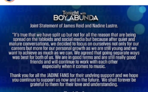 MUST-READ: James Reid and Nadine Lustre Officially Announce Break Up!