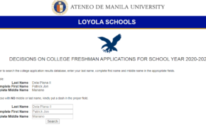 Ateneo ACET Results for AY 2020-2021 ANNOUNCED Online