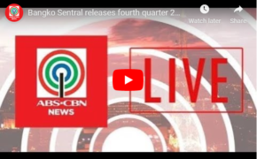Watch: Live Streaming of Bangko Sentral Fourth Quarter Inflation Report