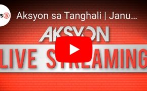 "LIVE NOW: ""Aksyon Sa Tanghali"" News5 January 17, 2020 (Friday)"