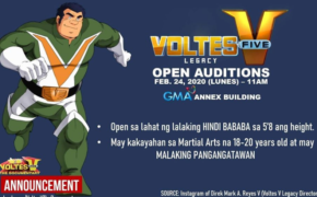 GMA's Voltes Five (V) Open Auditions on February 24, 2020