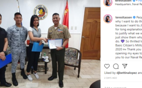 Viral Winwyn Marquez Reply to a Basher For Joining Military Training
