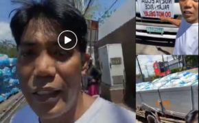 Actual VIDEO of FRANCIS LEO MARCOS With Truck of Rice to Give Away to Indigent Affected of ECQ